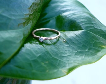 Delicate CZ Stacking Band