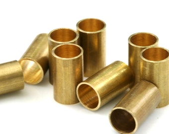 120 Pcs Raw Brass Tube 7 x 12 mm (hole 5,5 mm ) industrial brass Charms,Pendant,Findings spacer bead
