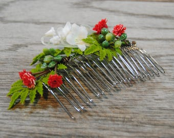 Lily of the Valley Hair Comb - Lily of the Valley Bridal Comb - Lily of the Valley Wedding Comb - Greenery Comb - Wedding Hair Comb
