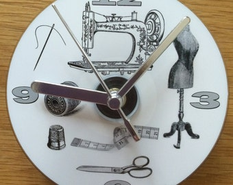 SEWING CD CLOCK (Can be Personalised)