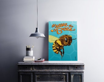 Save the Bees Wall Poster