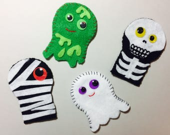 Halloween Finger Puppets! Set of 4