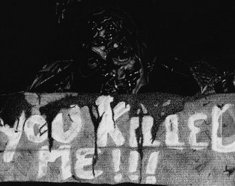 The Hitchhiker - Creepshow 2 Charcoal Drawing Print