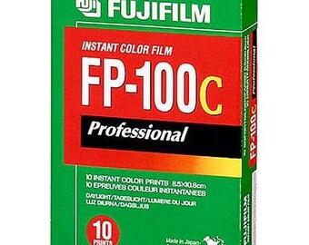 Fuji fujifilm fp100c fp 100c instant film polaroid type.