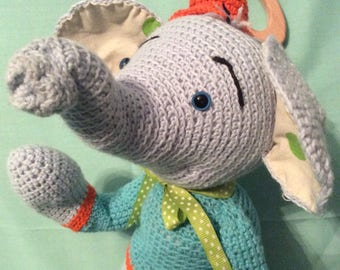 Blanket elephant crochet handmade amigurumi
