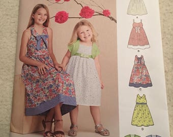 Simplicity easy to sew girls dress pattern