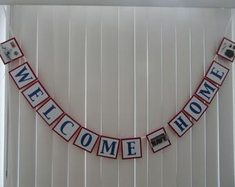 Navy Welcome Home-Red, White & Blue Patriotic Paper Banner