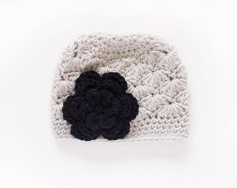 Crochet Girls Hat / Girls Beanie / Hats For Girls / Girls Winter Hat / Toddler Girl Hat / Crochet Baby Hat / Girls Hat / Newborn Girl Hat