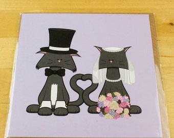 Wedding Cat Card