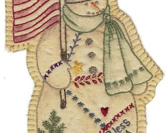 Vintage Christmas Ornament Snowman