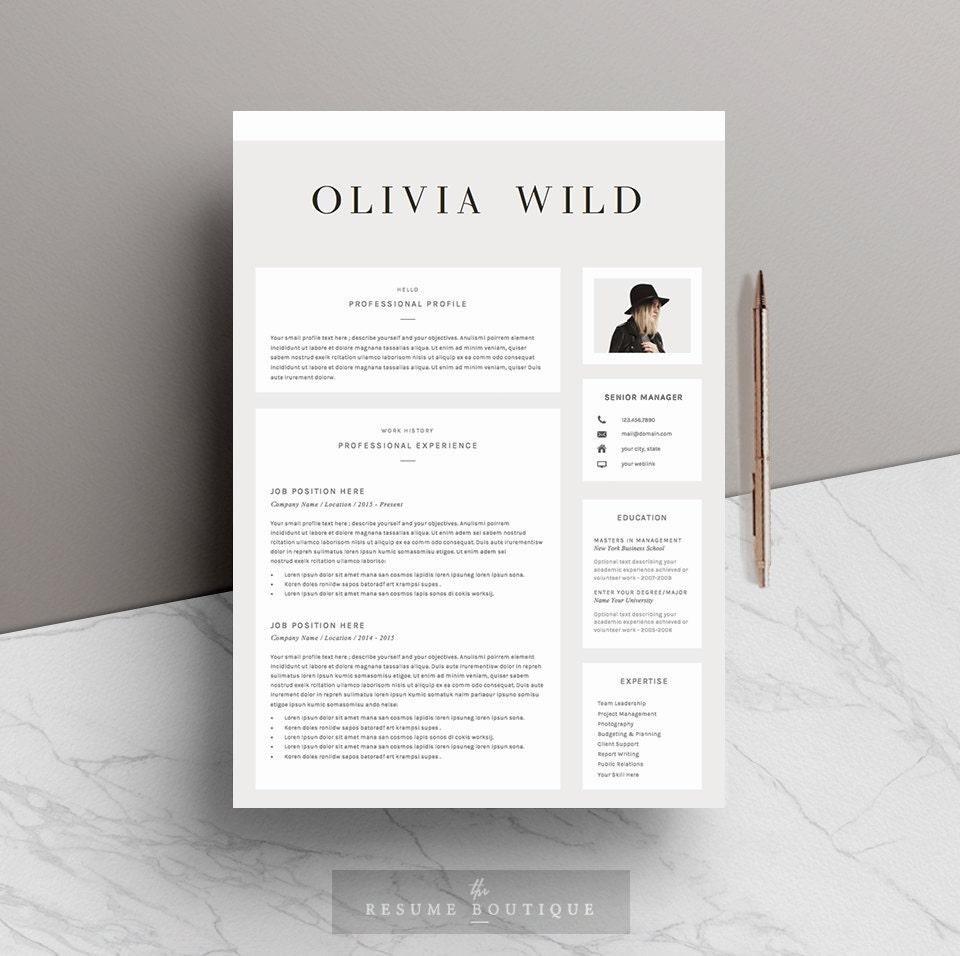 Reanudar la plantilla 5 páginas Plantilla de CV carta de