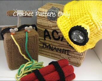 Miner Helmet and Mining Set Crochet Pattern