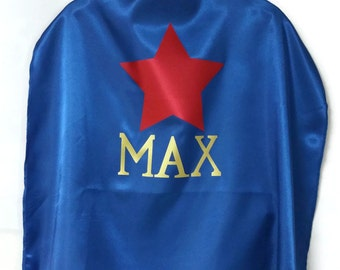 SUPERHERO CAPE - Superhero Mask - Single Layer Cape - Cape and Mask Set - Personalized Cape - Name Cape