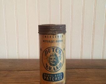 Vintage Dutch Brand Bevel Edge Patches Vintage Auto Tires Vintage Auto decor