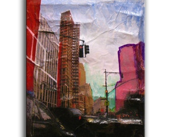 NYC Recycled Mixed Media art