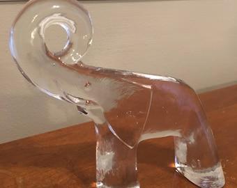 Kosta Boda Elephant Zoo Series Larger Size Bertil Vallien Scandinavian Art Glass