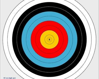 60cm outdoor archery target, vinyl archery target