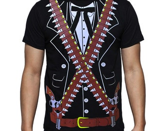 ADULT Bandido Pistolero Bandolero Mariachi Cinco de Mayo Costume T-Shirt