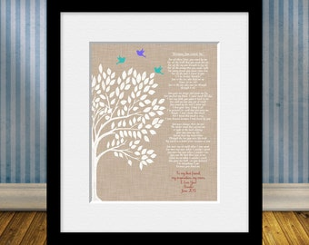 """Mother's Day Gift, Mom's Birthday Gift,  """"Because You Loved Me"""",  Personalized Gift for Mom, Thank You Gift for Mom,"""