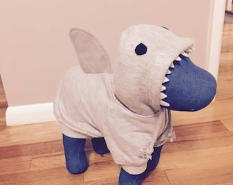 Dog shark hoodies