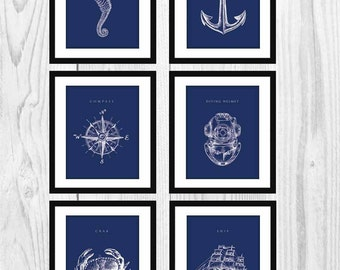 "Nautical Decor  - (11x14"" Art Prints)"