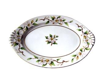 Kent China Del Mar Pattern Serving Platter / Vintage Plate / Apple Blossom / Serving Plate