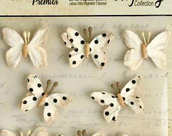 Petaloo Mini Butterflies Teastained Cream