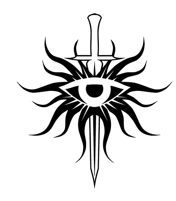 dragon age inquisition eye standard symbol vinyl decal for