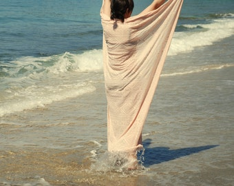 Swimsuit cover up in dusty rose, Beach cover up, Beach sarong, Bridesmaid gift, Pareo, Beach coverup, Beach wrap, Summer scarf, Gift women