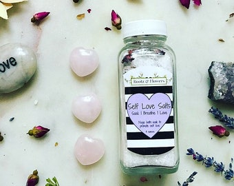 Self love salts | bath salts | magic bath salts | self love | love spell | gifts for her | galentines | valentines