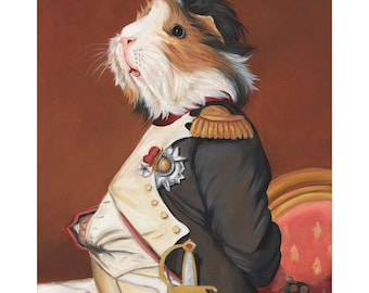 Guinea Pig Prints, Napoleon Guinea Pig Clothes, Animals in Clothes