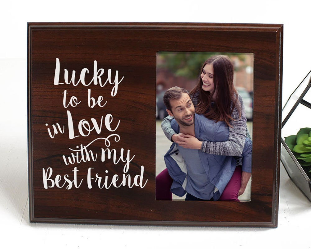 Boyfriend Gift for Him or Her Lucky to Be in Love Picture Frame ...