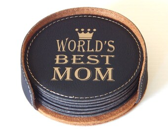 Mom Coasters - Gifts for Mom Mothers Day Gift - Best Mom Ever - Coaster, CAS004