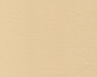 Cirrus Solids Sand Organic Cotton Quilting Fabric Tan Broadcloth Cloud9