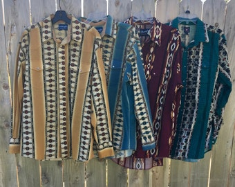 Men's Wrangler shirt cowboy western style vintage 3