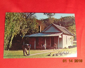 One (1), Vintage Post Card of Jack Daniel's Old Office, in Lynchburg, Tenn