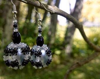 Zebra Earrings - Modern Earrings - Black and White Earrings