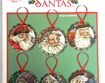 Cross My Heart Inc Heirloom Santa's Ornaments Counted Cross Stitch Pattern Booklet