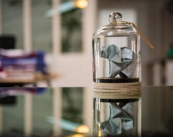 Origami Sculpture Elephant. Taxidermie. Decoration Tropical Argent. Cabinet Curiosité. Cadeau Naissance. Cadeau personnalisable pour elle