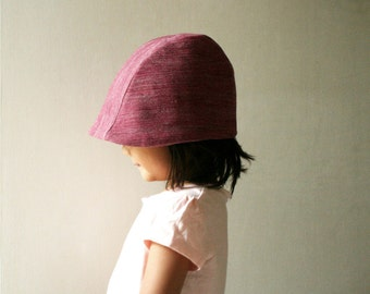 WOOL HAT / children / cranberry / merino wool / linen hat / reversible hat / girl / eco friendly /made in australia / pamelatang