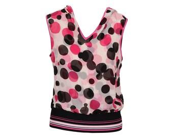 Lovely and Stylish Silk Polka Dot Escada Blouse with Hood