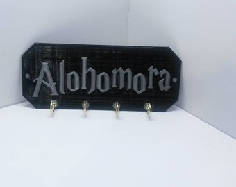 "Alohomora Harry Potter Key Holder Key Rack Key Organizer Jewelry organizer 6"" x 2.5"""