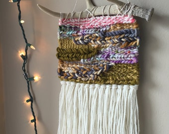 woven wall hanging bohemian tapestries weaving wall weaving antler wall decor woven fiber art ombre wall art colorful wall hanging & Woven and Wearable Art by PineapplePhi on Etsy
