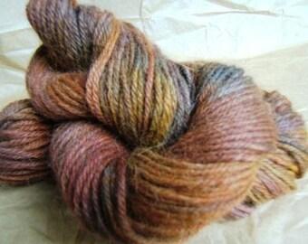 Hand dyed alpaca yarn