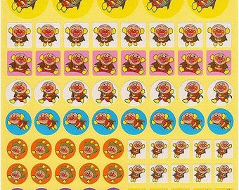 Anpanman Stickers - Large Sheet - Reward Stickers Style 2 - Reference A6491