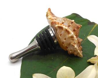 Bottle Topper, Sea Shell Wine Stopper - Wine Bottle, Wine, Stopper, Bottle Topper, Wine Lover, Bridesmaid Gift, Groomsman, Favor
