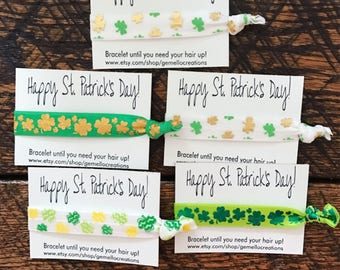 St. Patrick's Day, St. Patrick's Day Hair Ties, Hair Ties, Party Favors