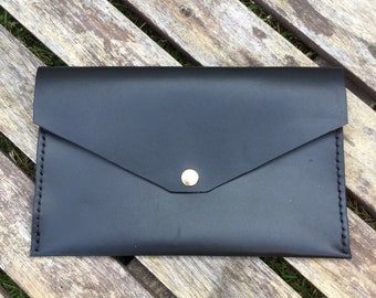 Envelope Clutch - Black Bridle Leather