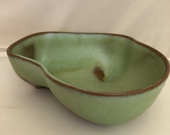 Vintage Frankoma Green Vegetable Serving Dish 4N