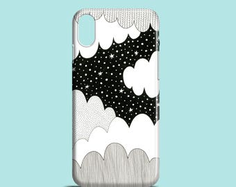 Cloudy Night mobile phone case / iPhone X, iPhone 8, iPhone 7, iPhone SE, iPhone 6S, iPhone 6, iPhone 5S, iPhone 5 / illustrated phone case
